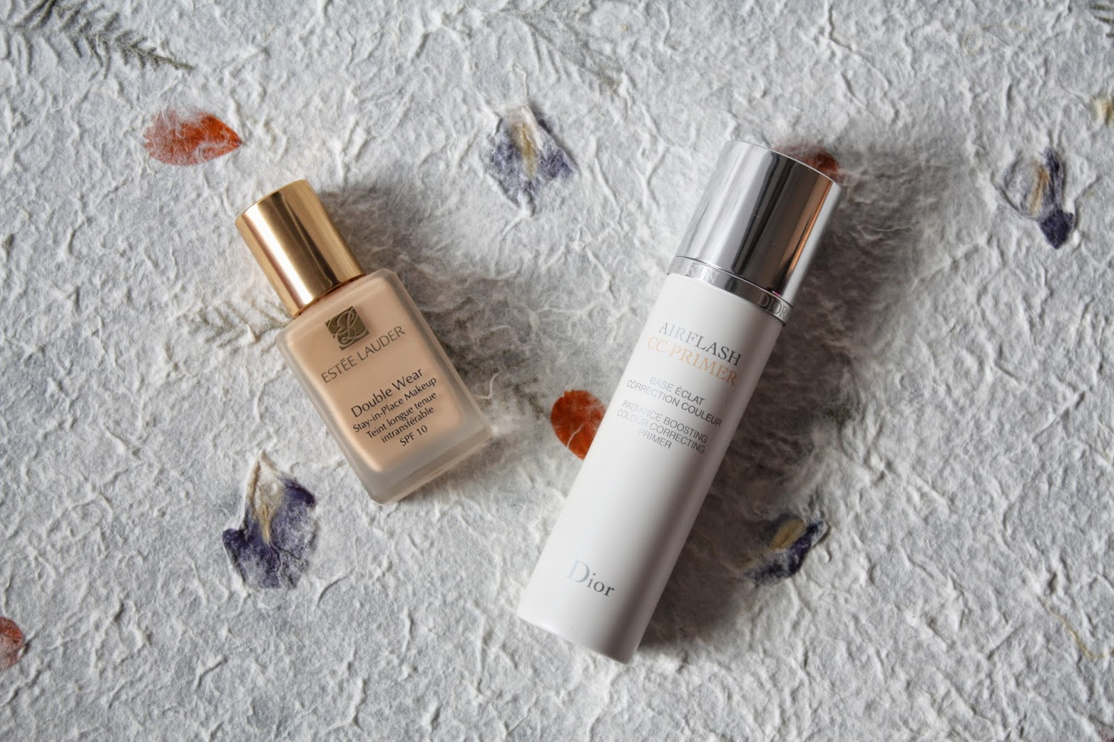 Estee Lauder Doublwear Foundation and Dior Airflash CC Primer