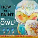 I'm in How to paint an owl 2 by Juliette Crane