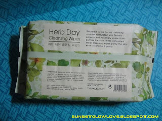 The Face Shop Herb Day Cleansing Wipes description and ingredients