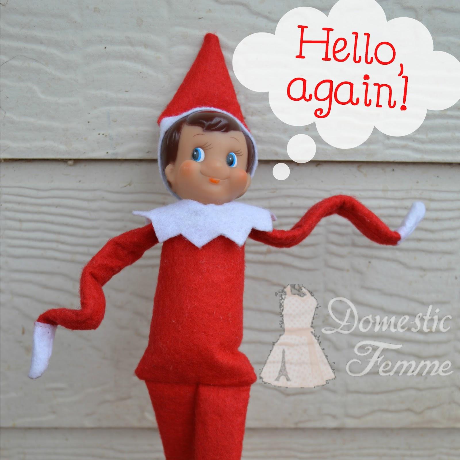 Domestic Femme Elf The Shelf Calendar with FREE