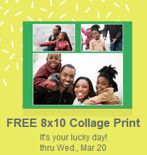 free 8 x 10 photo collage print from walgreens thrifty jinxy