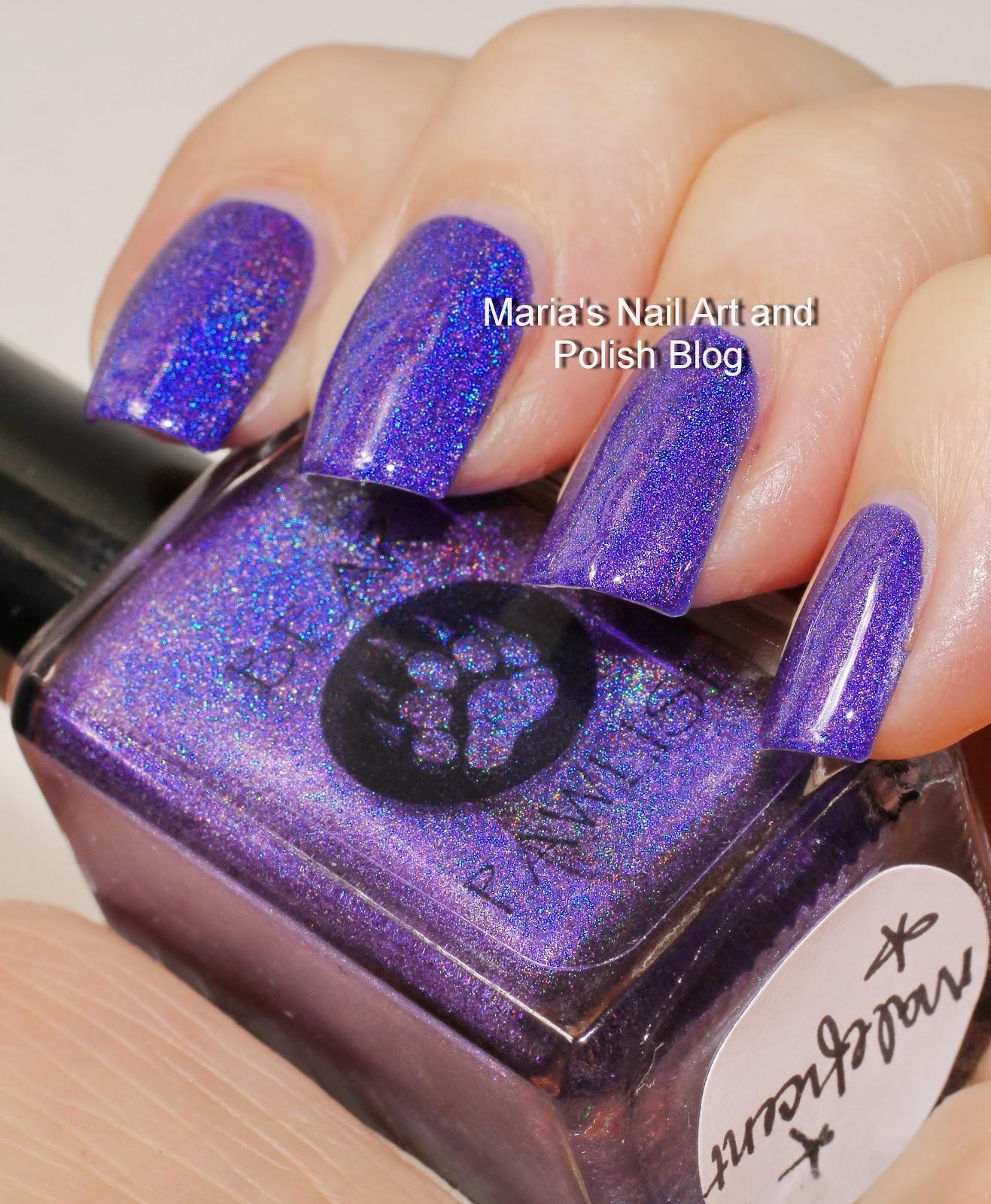 Marias Nail Art and Polish Blog: Bear Pawlish Maleficent swatches