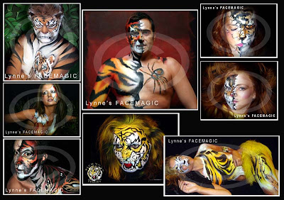 face painting image tiger half human Richmond Tigers afl football logo painted fur