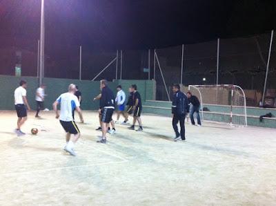 Radioshack+en+Calpe Radioshack Fussball Freundschaftsspiel in Calpe   Partido amistoso de futbito en Calpe