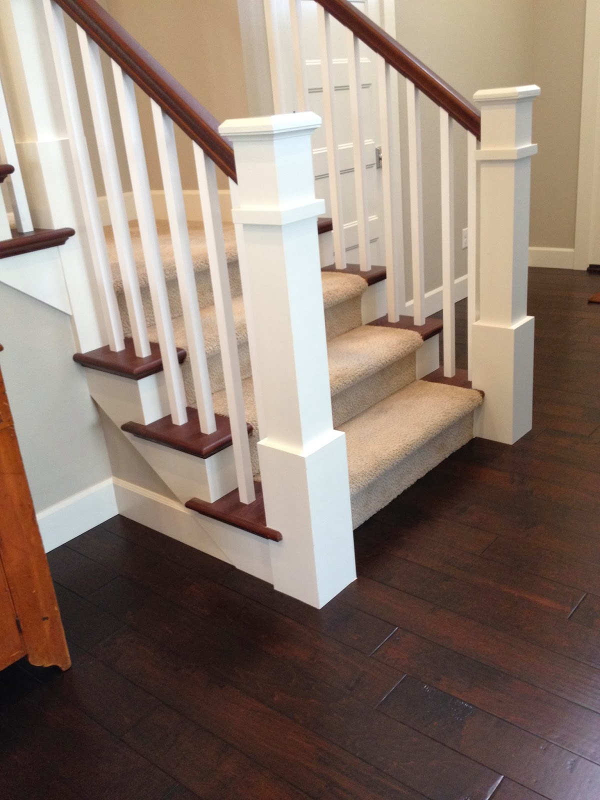 Custom Box Newel And False Tread Stairs