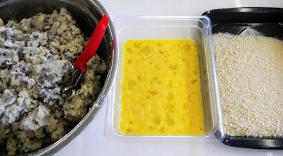 potato croquettes prep