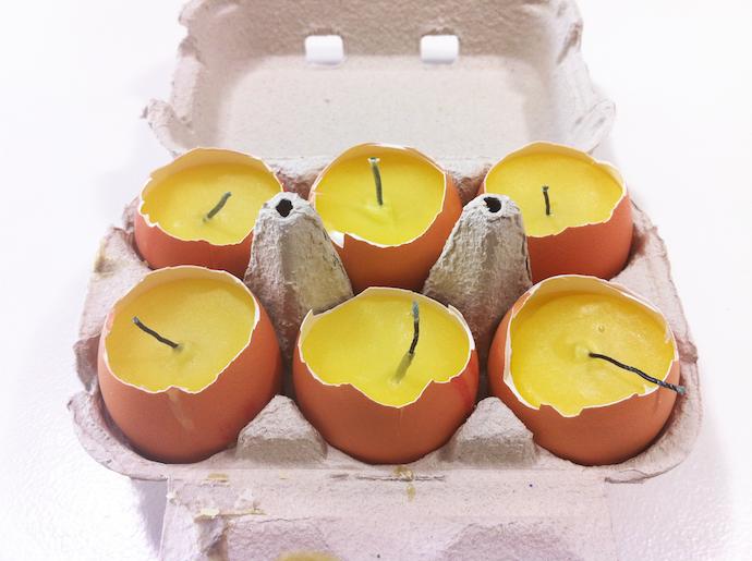 Diy diy reciclaje cartones de huevos for Como fabricar velas caseras