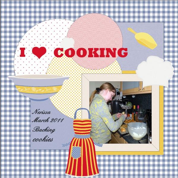 May 2016 - Nerissa backing cookies