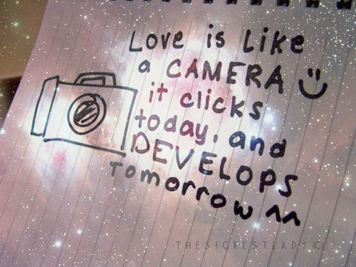 love is like camera