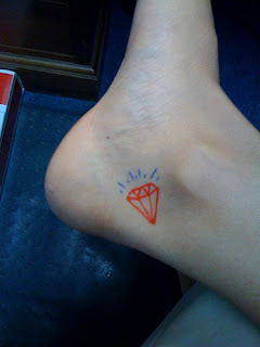 ankle+diamond+tattoos