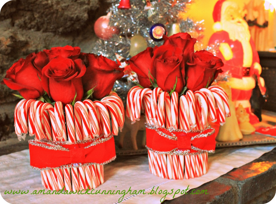 Kaleidoscope of colors candy cane centerpiece