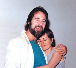 Us, married just a few months, 1986