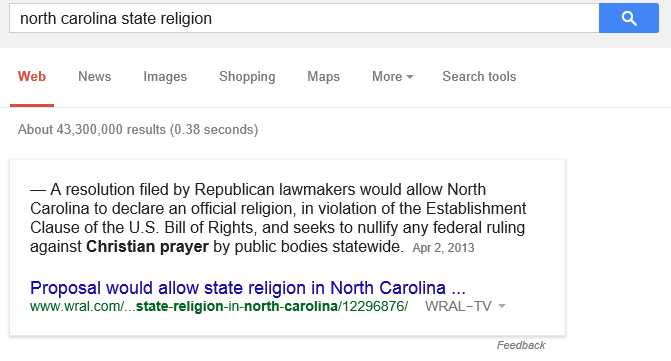 https://www.google.com/#q=north+carolina+state+religion