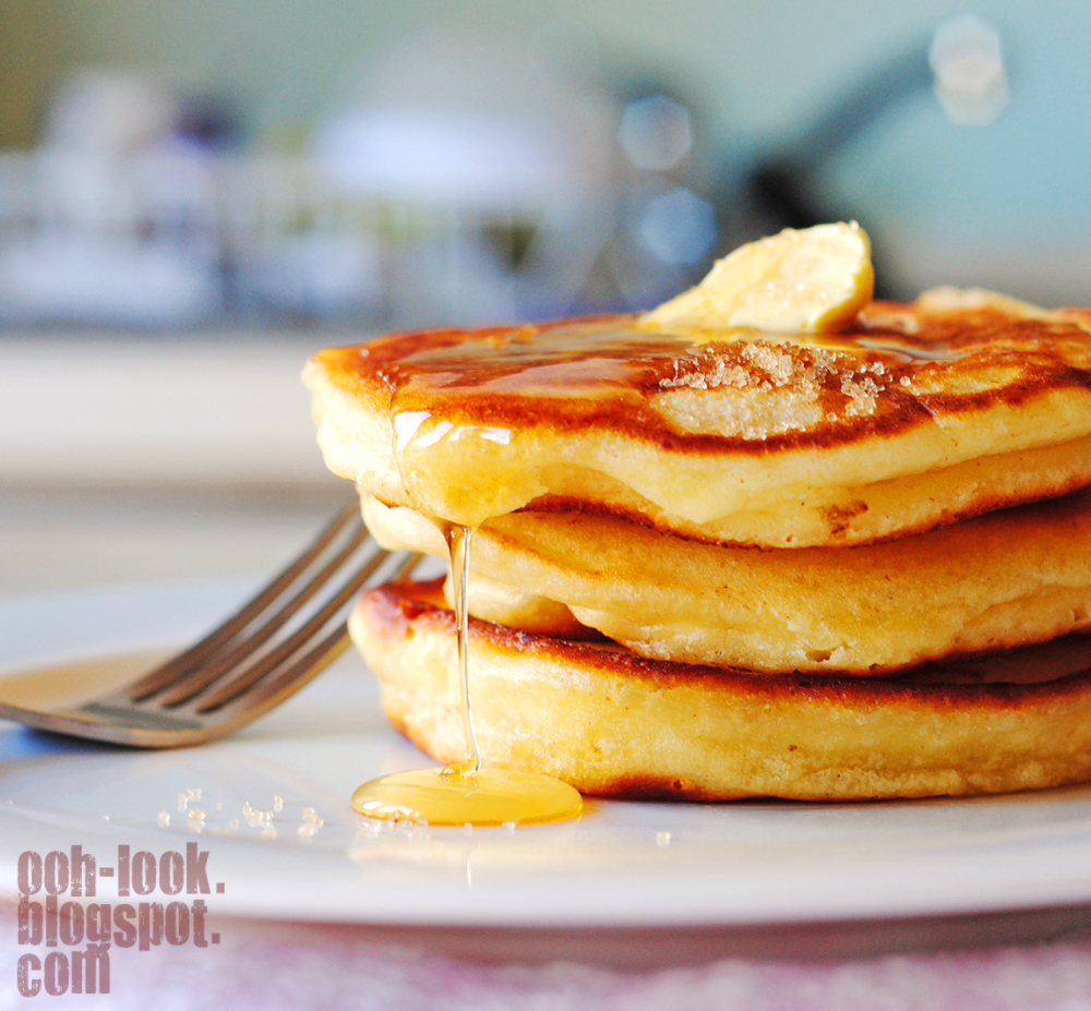 Lovely light and fluffy pancakes.