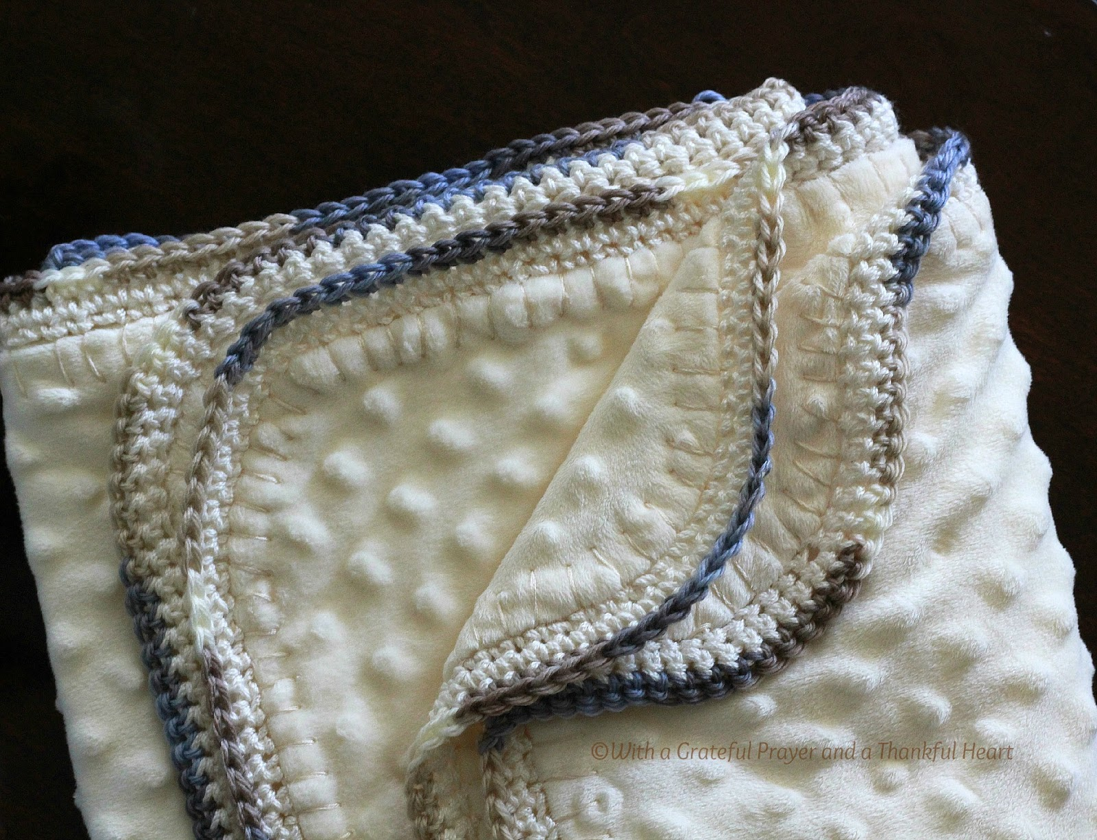Crocheting Edges On Baby Blankets : With a Grateful Prayer and a Thankful Heart: Crochet Edge Baby Blanket