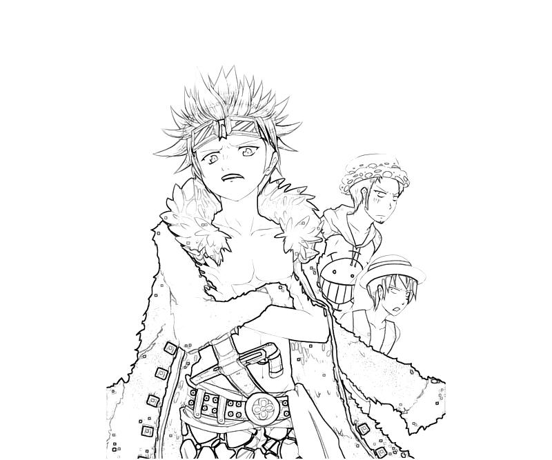 Printable Eustass Captain Kid Funny Coloring Pages