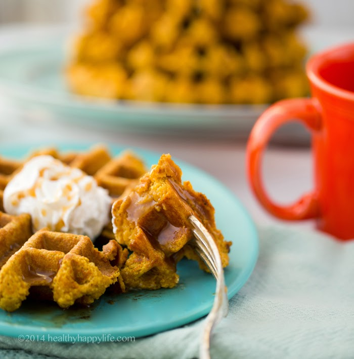 Orange-Spice Gluten-Free Vegan Pumpkin Waffles