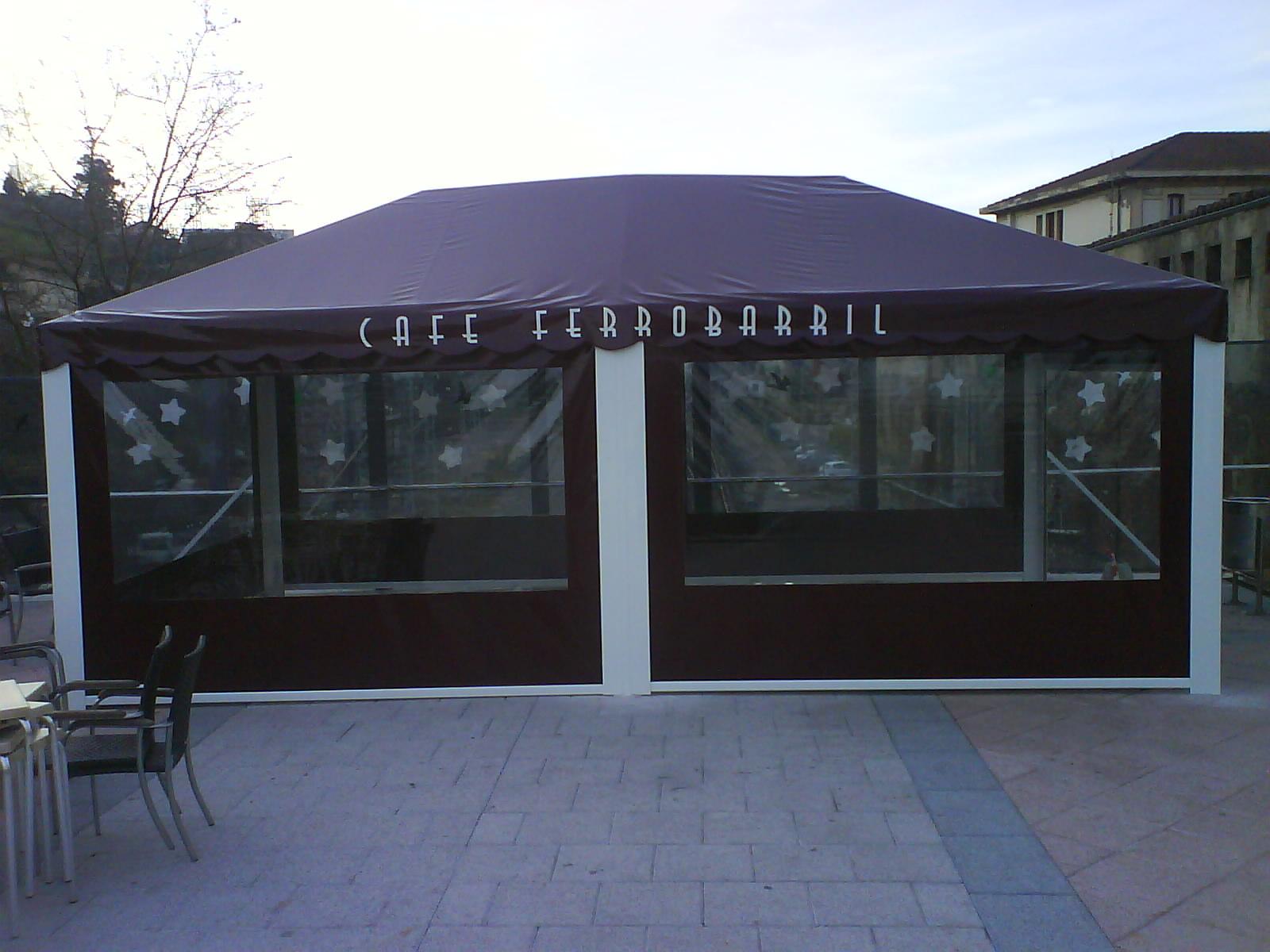 Terrazas climatizadas para hosteleria terrazas con carpas for Estructura de aluminio para toldo