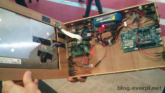 notebook com raspberry pi e intel edison