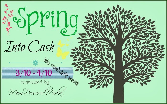 Enter the Spring into Cash Giveaway for a $250 Visa Gift Card. Ends 4/10.