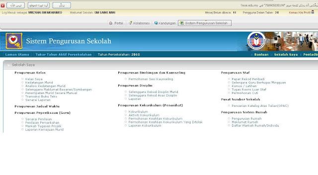 SPS, Sistem Pengurusan Sekolah,