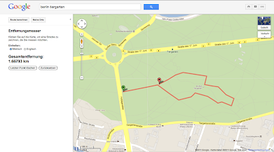 Maps Labs-Funktion Entfernungsmesser