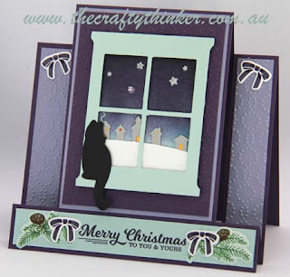 SU, Xmas Card, Centre Panel Card, Sleigh Ride, window, www.thecraftythinker.com.au