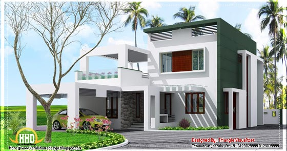 Beautiful contemporary low cost home in kerala 1923 sq for Tavoli design low cost