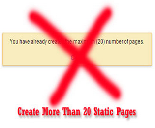 Create More Than 20 Static Pages In Blogger