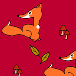 autumn fox pattern