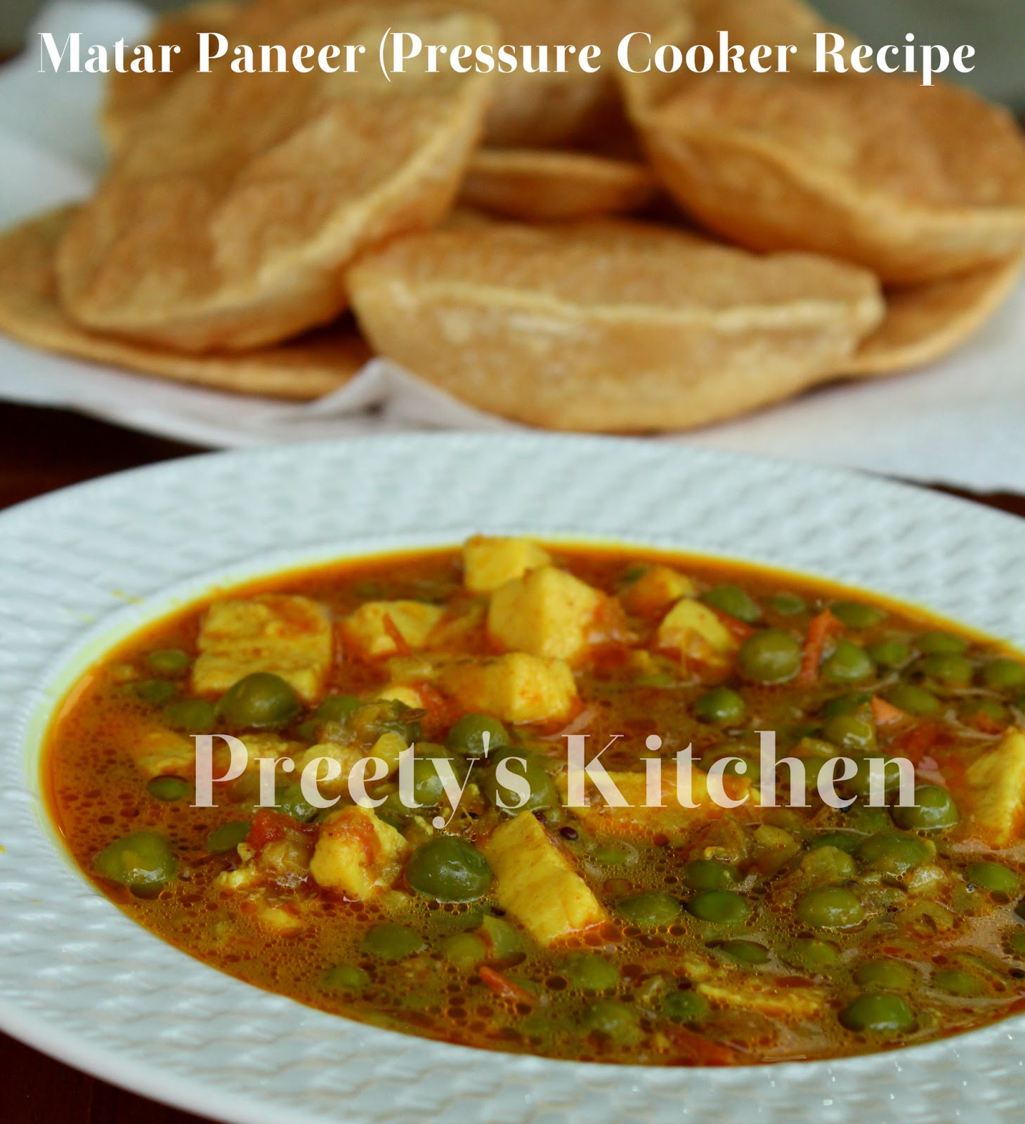 Preety's Kitchen: Matar Paneer/ Indian Cottage Cheese & Peas Curry ...
