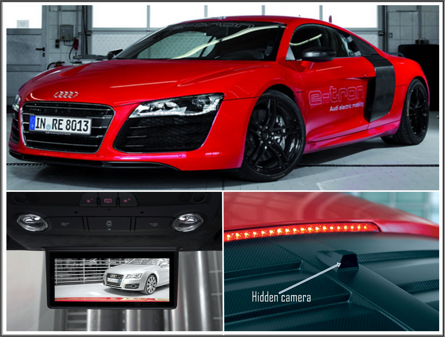 New Cars Audi R8 E Tron With Digital Rear View Mirror