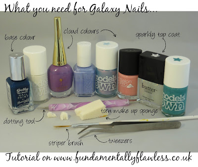 Galaxy nails tutorial