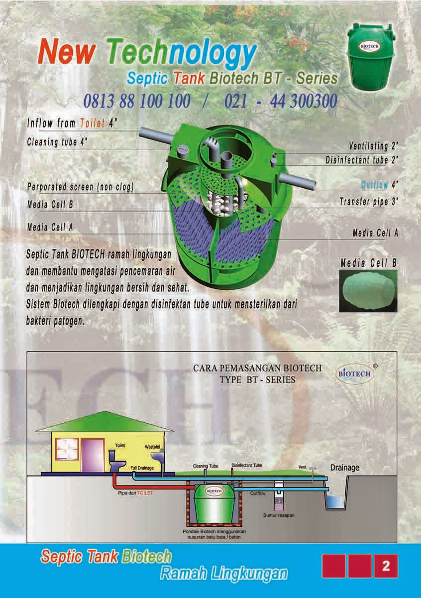 cara kerja septic tank biotech, bubuk bakteri pengurai tinja, toilet portable fibreglass, grease trap, biofive, biogift, biofil