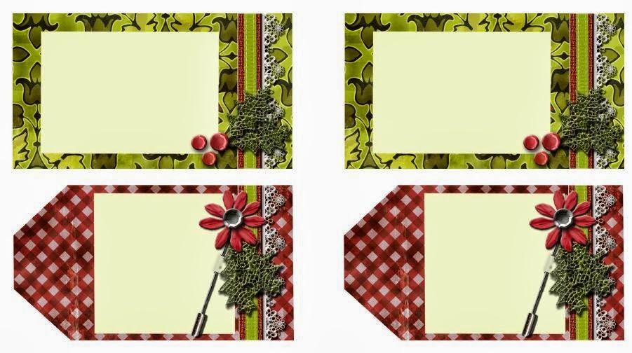 Tarjetitas para regalos navide os lodijoella - Tarjetas con motivos navidenos ...