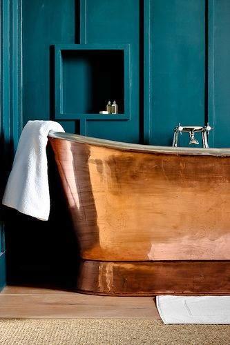 Bañeras en casa - Bañera de cobre