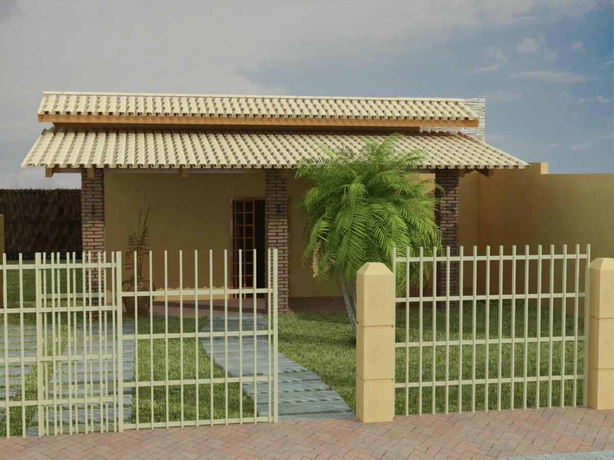 Blog do j nior palmeiras fachadas de casas simples e pequenas for Fachadas de viviendas pequenas