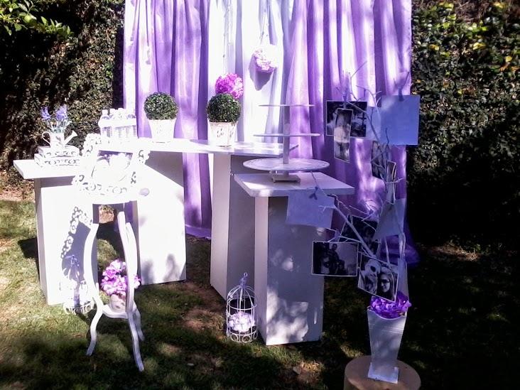 Arte e Decoração Decoração Provençal Casamento Lilás e Branco