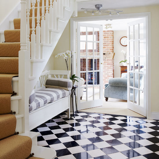 Black and White Hallway Ideas