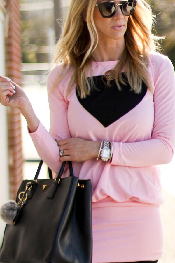 pink heart tunic