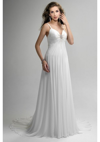 Fashion and stylish dresses blog chiffon summer wedding for Beach themed wedding dress