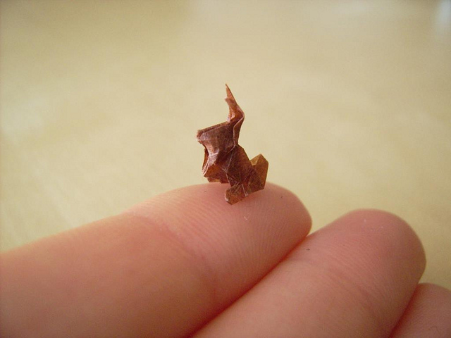Worlds smallest origami photos
