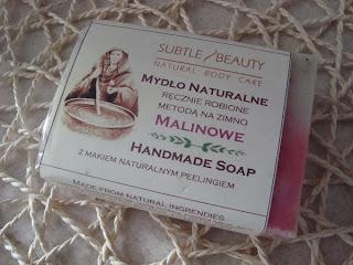 Mydło naturalne - Malinowe - Do każdego typu skóry z SUBTLE BEAUTY - opinia