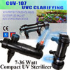 Compact Aquarium and Pond UV Sterilizer, better value than Tetra, Turbo Twist