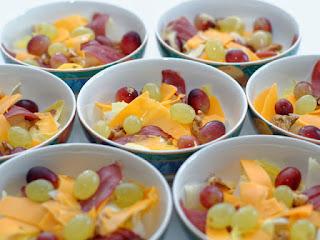 Salade d'automne aux deux raisins