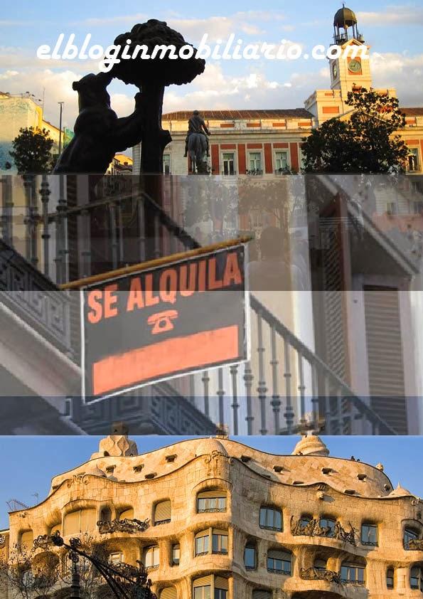 Precio Alquiler Madrid y Barcelona elbloginmobiliario.com