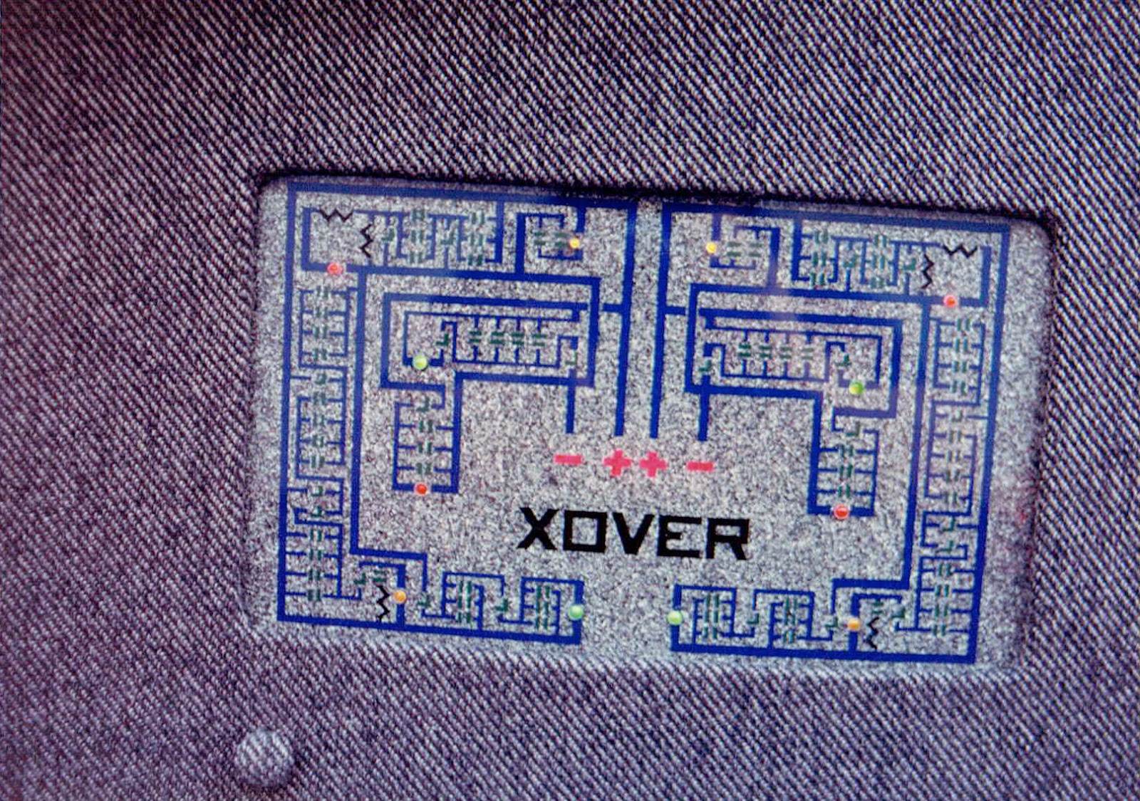 Photo of the passive network diagram under the truck lid in Alberto A Lopez's 1991 Red NIssan Sentra