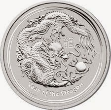 1oz 99.9 Silver Lunar II - Dragon