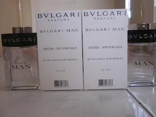 BVLGARI PERFUME : BVLGARI MAN FOR MEN TESTER