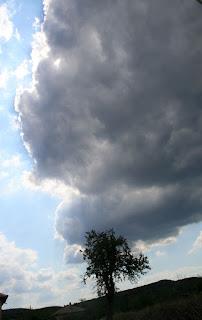 A big cloud blows over